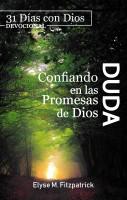 Duda. Confiando en las promesas de Dios