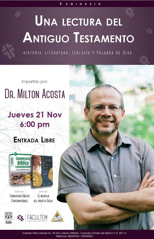 evento milton acosta 6pm 21NOv